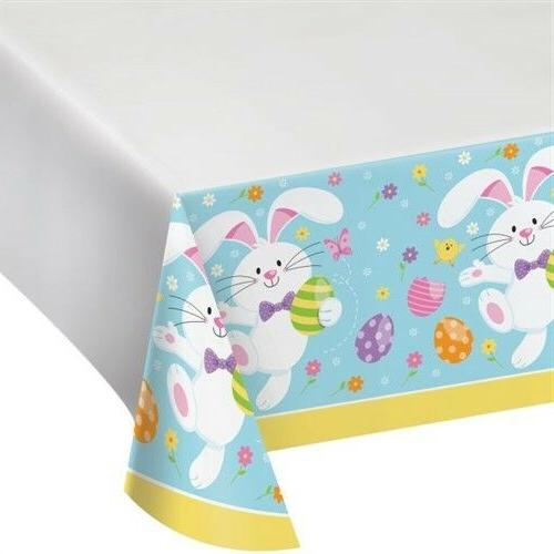 easter bunny bounty plastic banquet tablecloth easter