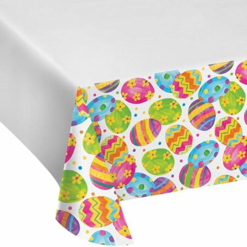 easter egg toss tablecover tablecloth plastic 54
