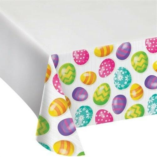 easter eggs plastic banquet tablecloth easter decoration