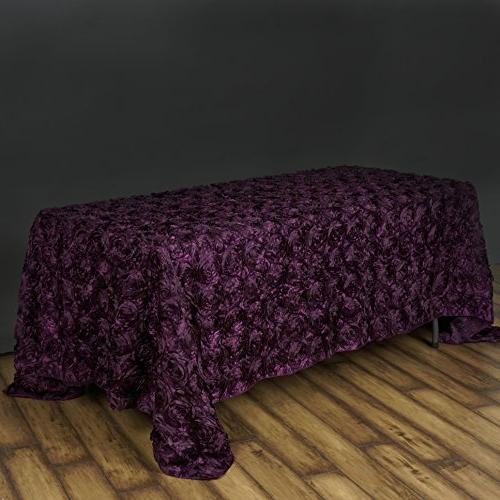 efavormart rectangle table cover eggplant
