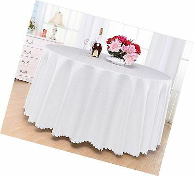 Eforcurtain Circles Jacquard Tablecloth Table Cover