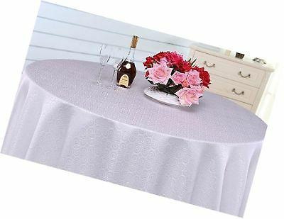 Eforcurtain Elegant Tablecloth Round Fabric Cover for