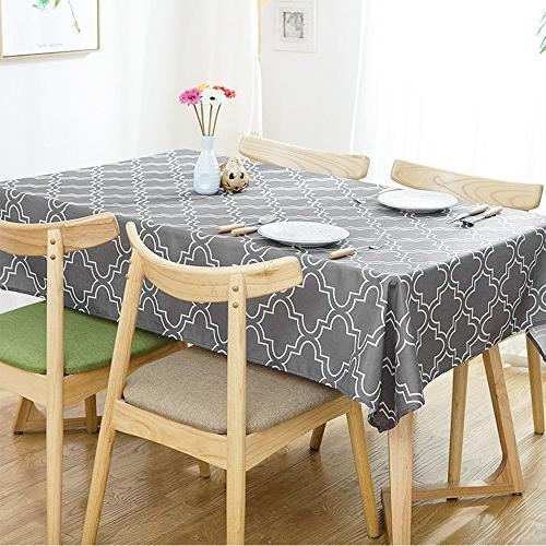 ColorBird Moroccan Waterproof Spillproof Polyester Table Cover Dinning Tabletop