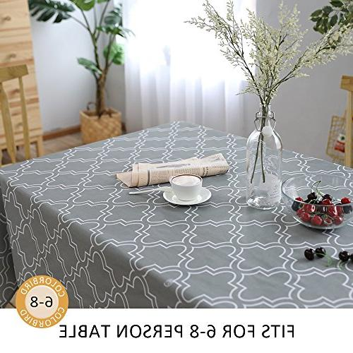 ColorBird Moroccan Tablecloth Waterproof Spillproof Polyester Table Dinning