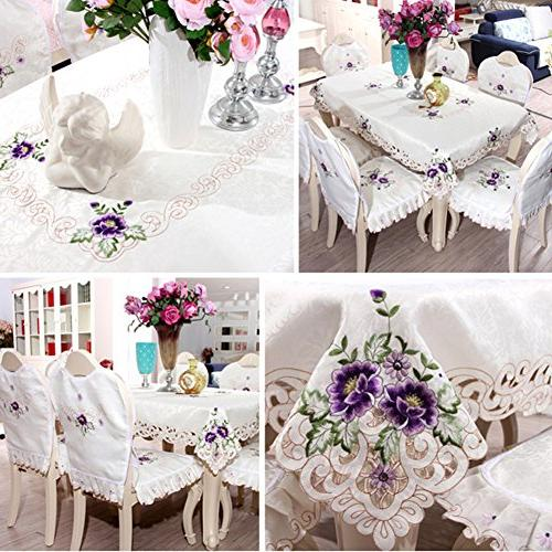 Elegant flower embroidery floral dining home room party wedding gift for table
