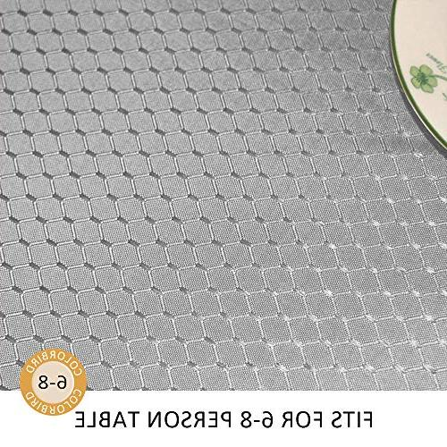 ColorBird Elegant Waffle Tablecloth Waterproof Cover Decor
