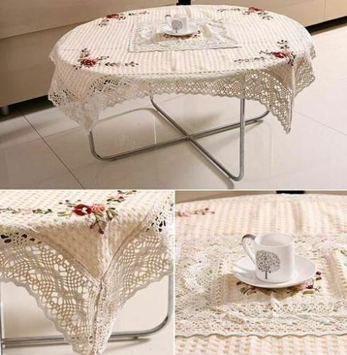 embroidered ribbon lace home decor round shape