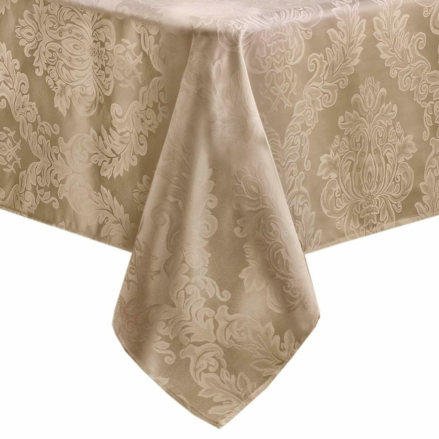 Fabric Damask Tablecloth Dining 52 Square
