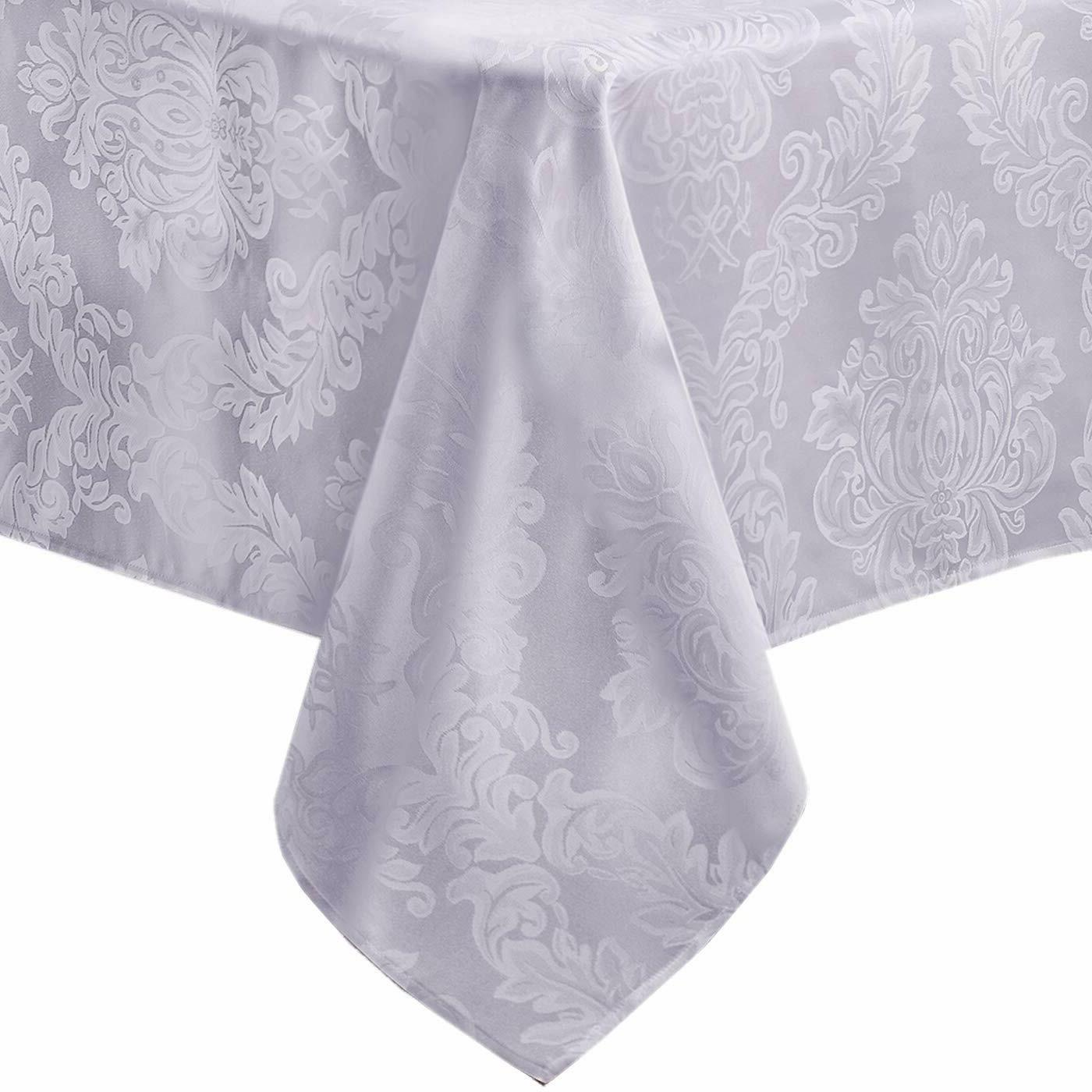 Fabric Damask Dining Table Tablecloths 52