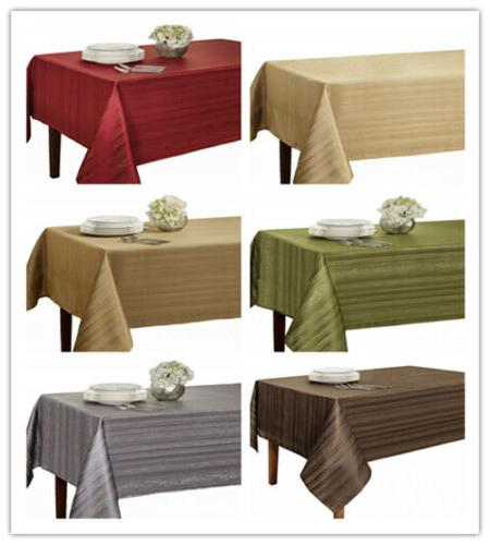 flow spillproof fabric tablecloth 3 sizes 60x84