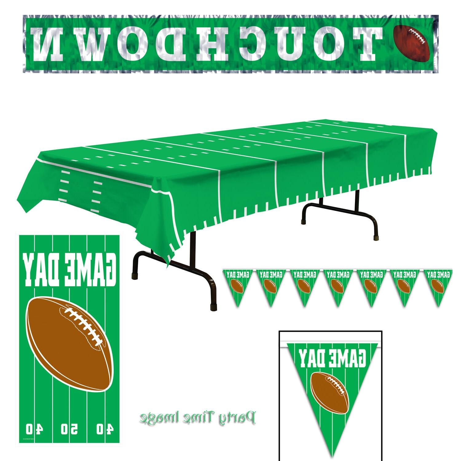football decorations banners banner door cover table
