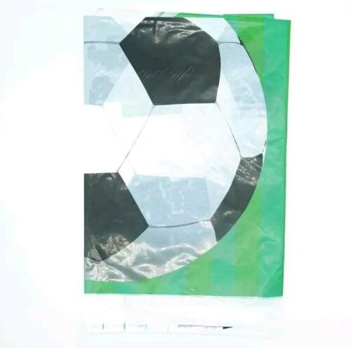 football plastic table cloth disposable birthday party