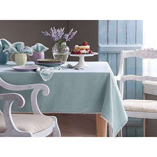 "Lenox Perle x 102"" Natural Tablecloth"