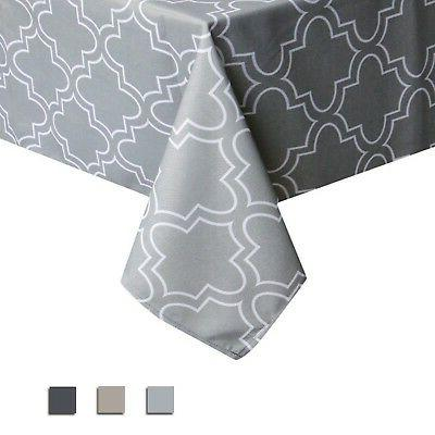 geometric spillproof fabric tablecloth modern style table