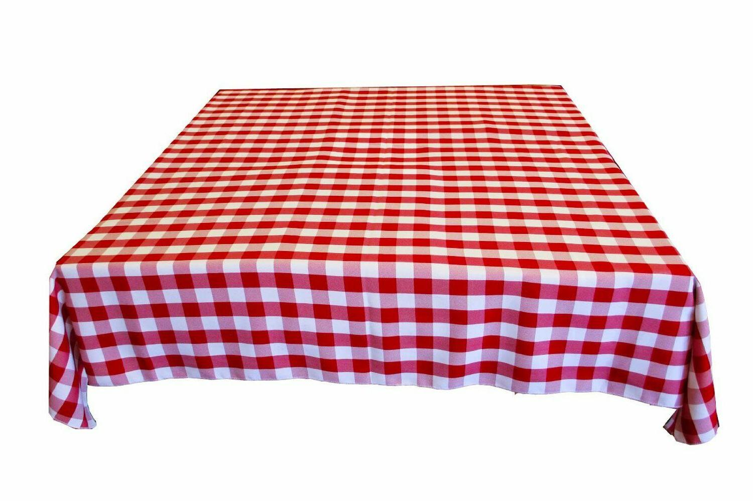 gingham checkered cotton blend italian restaurant style