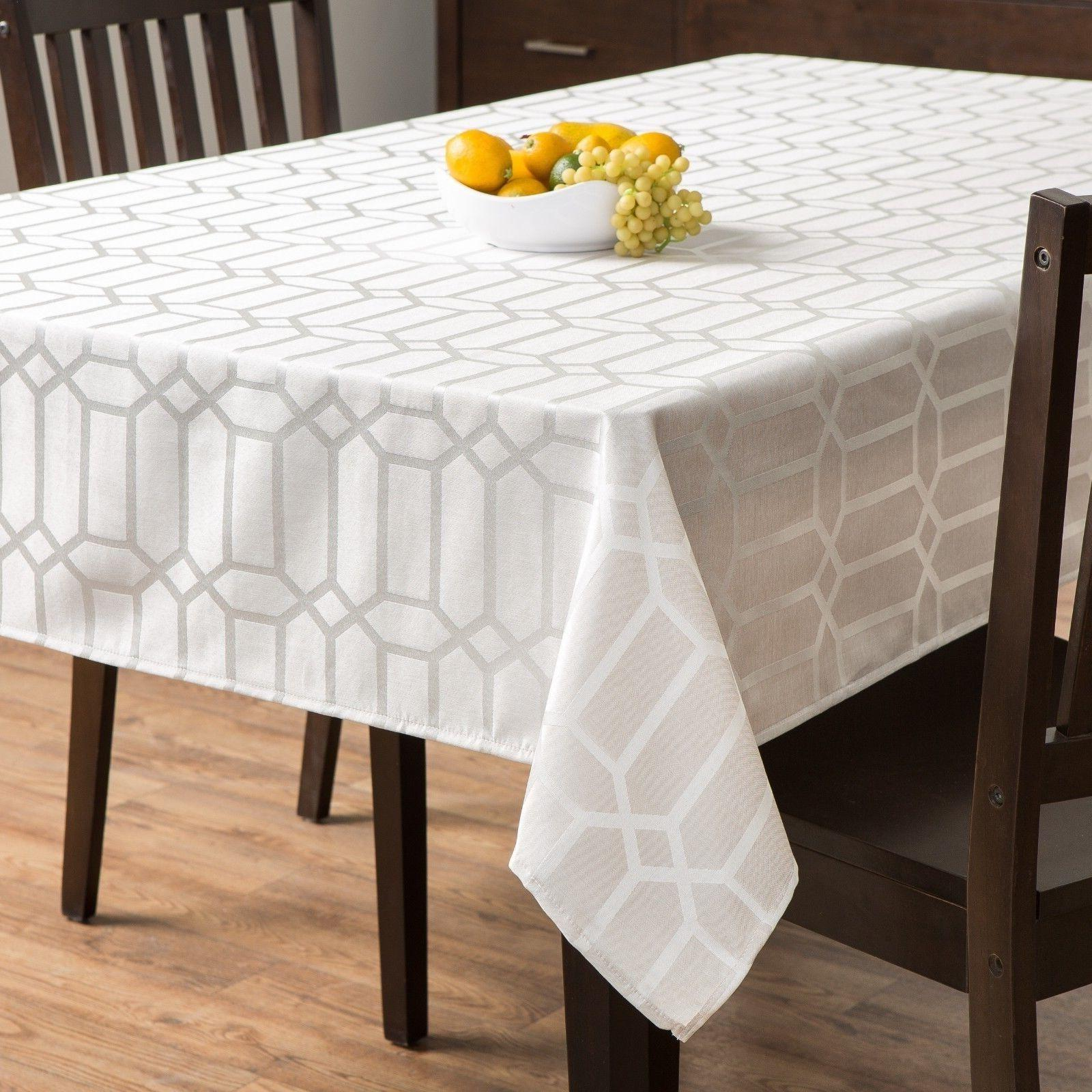glimmer fabric tablecloth heavy weight wrinkle resistant