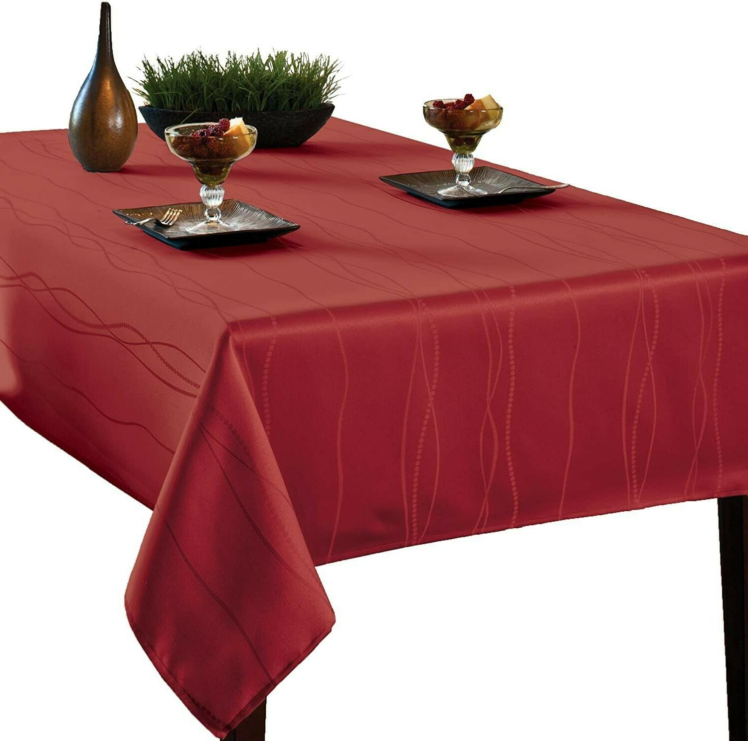 gourmet spillproof fabric tablecloth rio red 60
