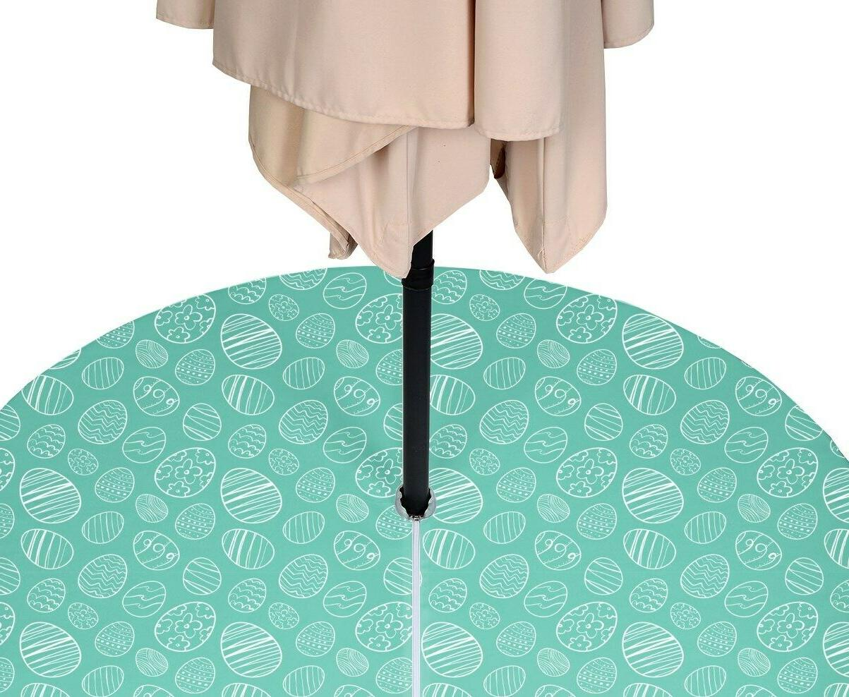 hand drawn easter eggs teal waterrepellent tablecloths