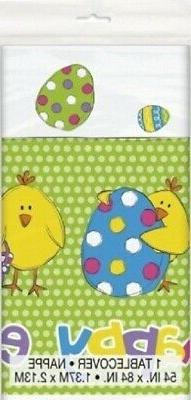 happy easter plastic tablecover tablecloth decoration color