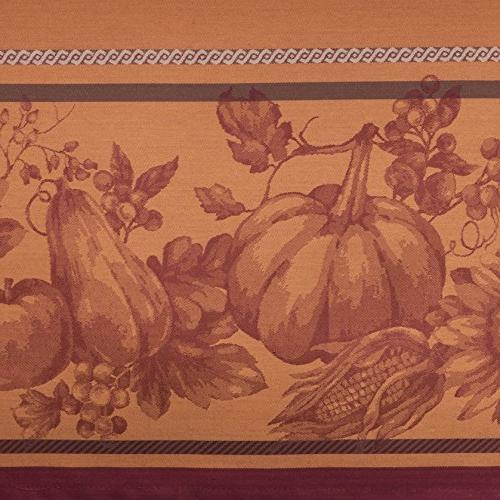 Benson Mills Engineered Yarn Jacquard Tablecloth, Round