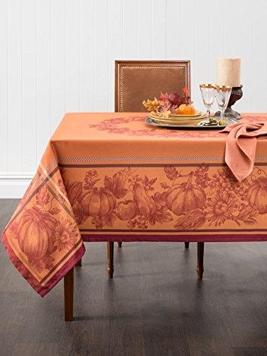 Benson Mills Royalty Engineered Dyed Tablecloth, 70-Inch