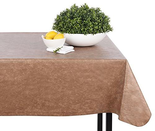 Yourtablecloth Heavy Rectangle or – Gauge Duty Tablecloth – Backed Wipeable with Colors & Many 52 x 52