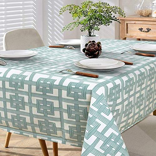heavy rectangle tablecloth flocked fabric