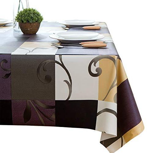 LEEVAN Heavy Weight Vinyl Rectangle Table Cover Wipe -able P