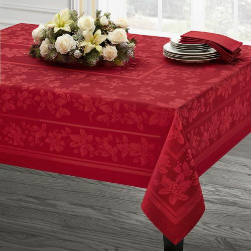 holiday elegance engineered jacquard christmas tablecloth re