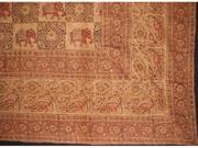 "Indian Block Print Cotton Tablecloth 90"" x 60"" Brown"