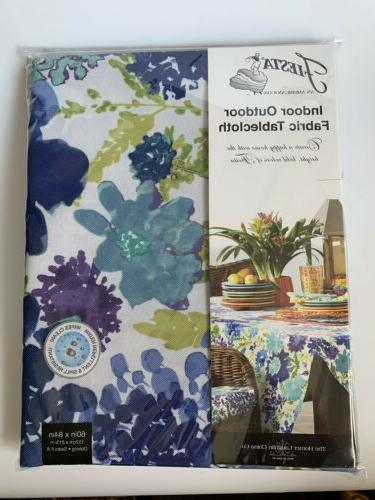 indoor outdoor fabric tablecloth garden floral cool