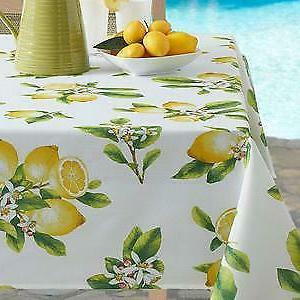 lemon bliss indoor outdoor spillproof tablecloth several