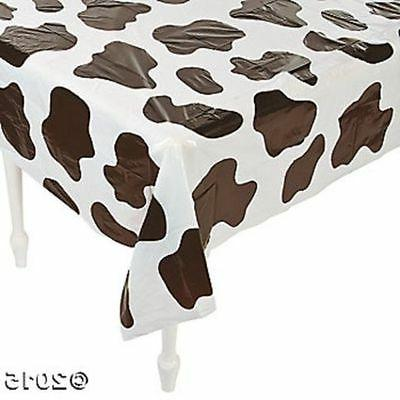 Fun Express Lightweight Cow Print Tablecloths , 54 x 72""