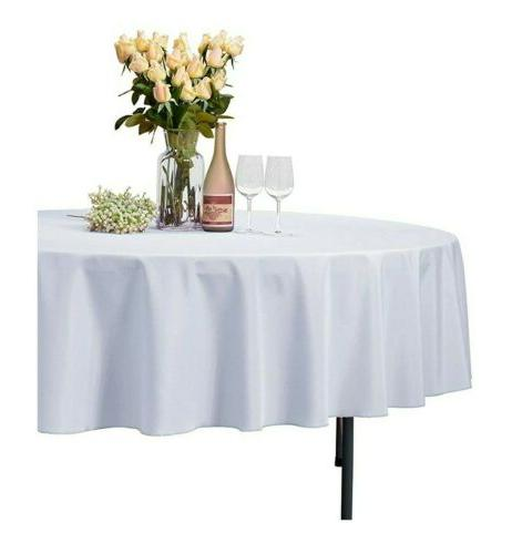 Linen 108-Inch Polyester Tablecloth