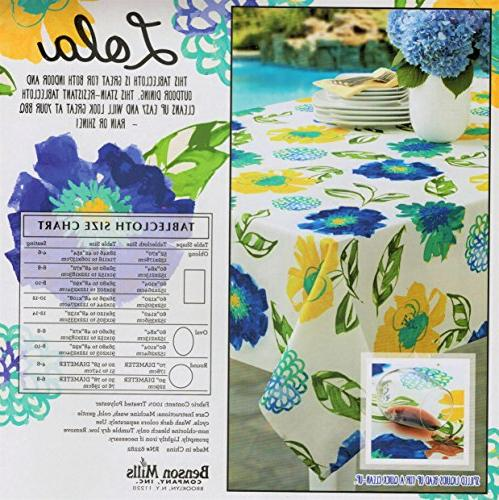 Benson Outdoor Spillproof Stain Resistant Tablecloth