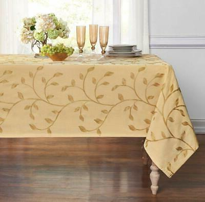 luxurious heavy madison leaf embroidered