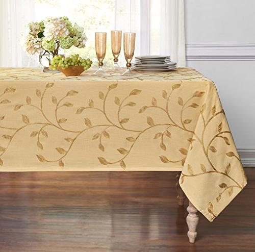GoodGram Luxurious Madison Embroidered Tablecloth Assorted