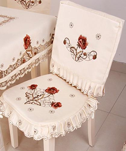 Luxury Embroidery Floral Table Cover 42 62 inch Approx