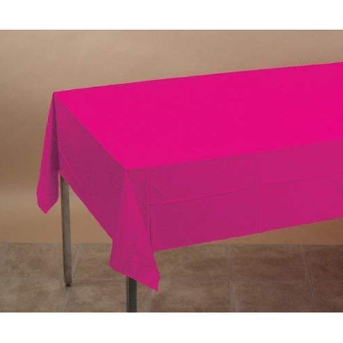 magenta tissue poly tablecover solid