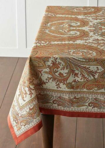 Maison Hermine Paisley 100% Cotton Tablecloth 60 inch 90