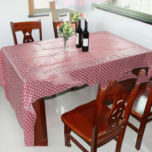 multi color disposable tablecloth polka dot table