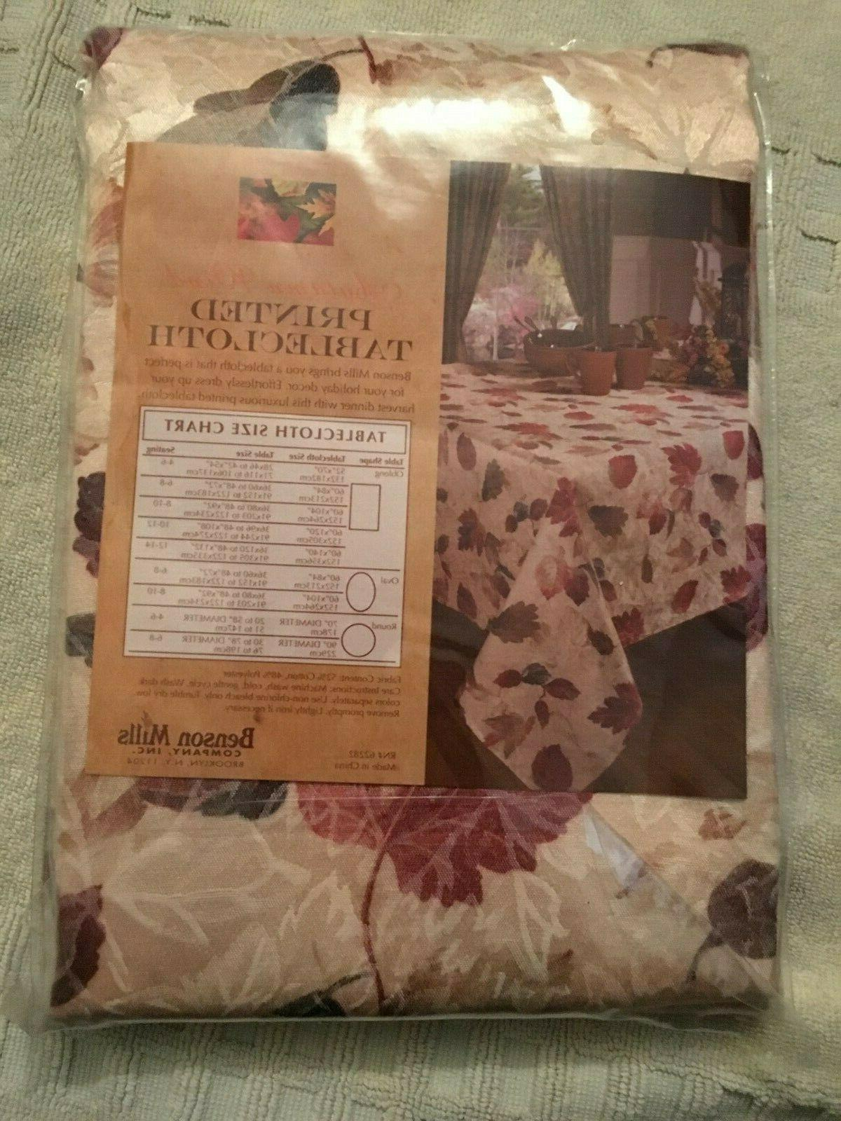 New Benson Mills Autumn Wind Oblong Printed Tablecloth