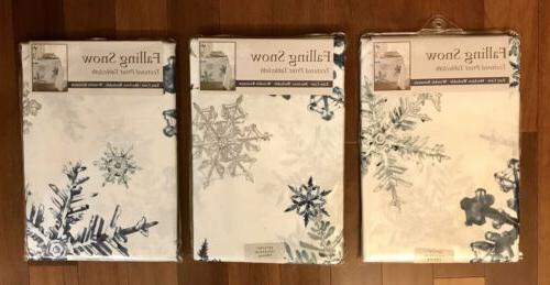 NEW Falling Snow Textured Christmas Holiday Benson Mills