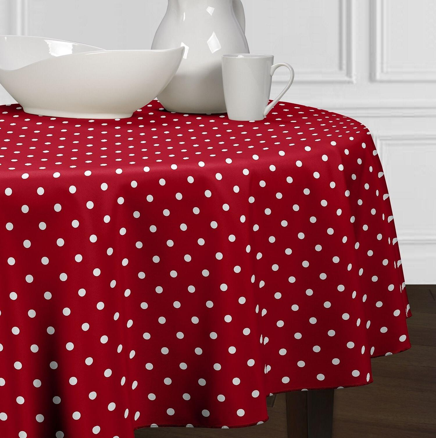 new red and white modern polka dot