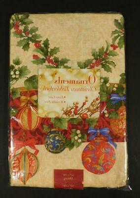 nos ornaments christmas tablecloth 52 x 70