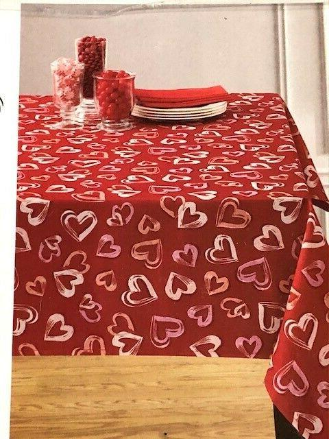 open hearts red and pink valentine polyester