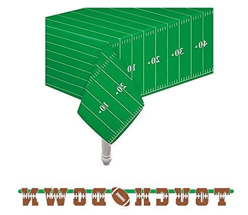 "Pack of game Day Touchdown 54""x78"" 1 letter banner"