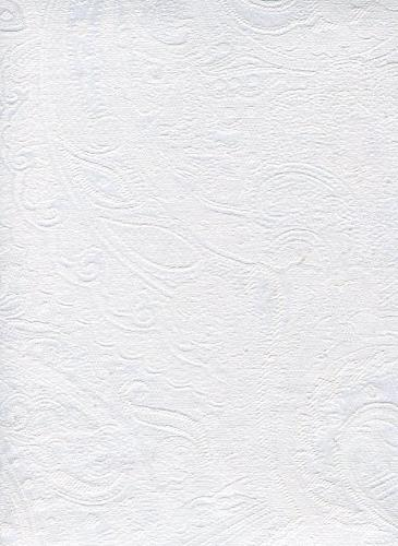 paisley suite white tablecloth