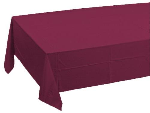 Creative Converting Paper Banquet Table Cover, Burgundy