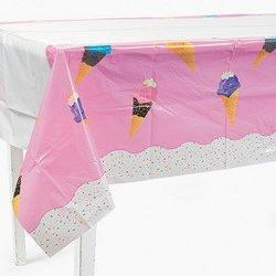 Fun Express Plastic I Scream for Ice Cream! Table Cover